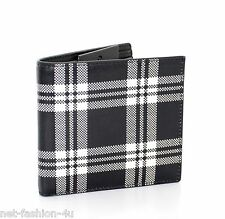 ALEXANDER McQUEEN MEN'S CHEQUERED BLACK AND WHITE BIFOLD WALLET BNWT