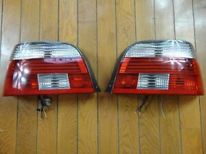 BMW E39 5-Series OEM Hella Clear White Taillight Tail Lamp Lights Lens