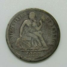 US 1883 Seated Liberty 10 Cents, Very Good condition