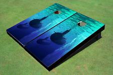 Submarine Iceburg Custom Cornhole Board