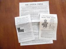 c.1904 Harrison Oil Gas Stove Range Circular Brochure Lot Antique Originals