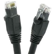 Certicable 20 Ft Cat 6A UTP Ethernet Network Booted Cable Black RJ45 24 AWG PVC