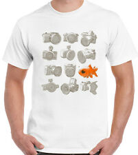 Photography T-Shirt Fisheye Mens Funny Fish Eye Lens Camera Nikon Cannon