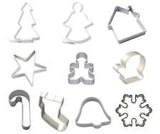 Christmas Cookie Cutters Cake Metal Alloy Biscuit Pastry Decorating Xmas Mould