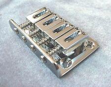 4 STRING BRIDGE FOR CIGAR BOX GUITAR OR ELECTRIC UKULELE - CHROME