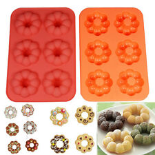 Doughnut Silicone Muffin Cake Mould Chocolate Cookie Candy DONUT Bake Mold LD362