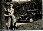Girl & Car Bellezze e Motori Dolce Vita Automobile PC Circa 1960 Real Photo 4