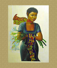 """CAMILE"" Ethnic Art Sold Out Limited Edition 2000 Charles Bibbs & Gilbert Young"
