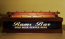 "Lighted 18 Beer Tap Handle Stand /3 Levels Bar Sign "" Rams Bar """