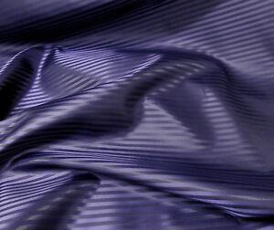 Purple Black Stripe Faux Silk Fabric Material Lining Suits Ties Skirt Drape Sari