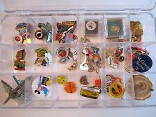 75 LAPEL PINS COLLECTION - NFL, POLITICAL, OLYMPICS, AIRLINE, MEDIA & MUCH MORE