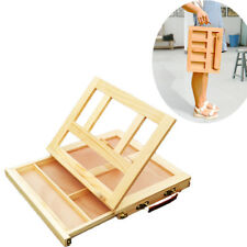 Folding Art Artist Drawing Wood Easel Portable Tabletop Desk w/ Storage Painting