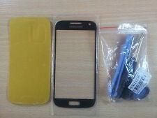 Cristal de Pantalla NEGRA para Samsung Galaxy S4 Mini I9190+Adhesivo+Herramienta