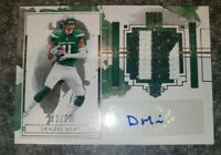2020 Panini Impeccable RC Rookie Jersey Name Patch Auto Denzel Mims /99 RPA