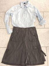 CECIL 2-tlg. Sommer Damen Outfit Rock grau 28/36 Bluse hellblau M/38 wie Neu