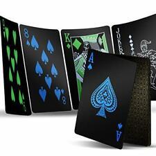 1 Deck Playing Cards, Premium Plastic Waterproof Black Playing Poker Cards