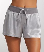 PJ Harlow DARK SILVER Mikel Satin Sleep Boxer Shorts, US Small