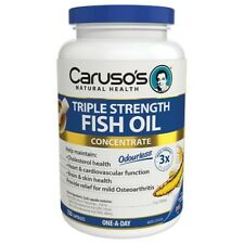 Caruso's Triple Strength Fish Oil 150 Capsules Omega-3 Concentrate Odourless