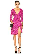 NEW Diane Von Furstenberg DVF Julian Two Wrap Dress Shalamar Trellis Pink Size 4
