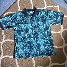 TOMMY BAHAMA MENS POLO SHIRT SIZE L GREEN BLUE