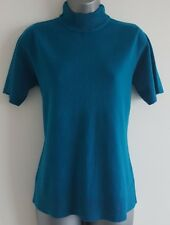 Size 12 Top BHS Blue Soft Knit Fitted Stretch Excellent Condition Women's Casual