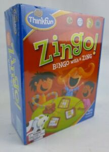 ThinkFun Zingo Bingo With A Zing Board Game - Pictures Tiles Card Classic Bingo