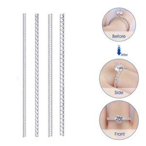 4pieces Ring Resizer Jewelry Size Reducer Adjuster Invisible DIY