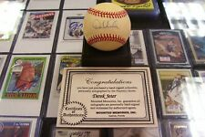 DEREK JETER EARLY YEARS SIGNED OFFICIAL AL BASEBALL NY YANKEES MOUNTED MEMORIES