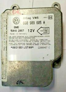 1999-2001 VW Jetta air bag module 6Q0 909 605 A  **Tested**