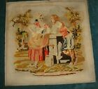Antique wool work  of a lady and man