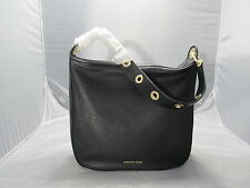 MICHAEL KORS RAVEN BLACK LEATHER LARGE SHOULDER HANDBAG