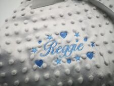 Personalised Baby Dimple Comforter taggie  Blanket Boy Girl Gift stars / hearts