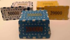 More details for 10 x square numbered poker chips plaques high denomination 32g