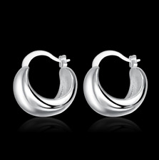 Womens Sterling Silver Exquisite Classic 20mm Small Stud Hoop Earrings #EA67