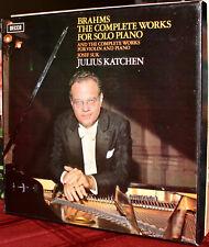 DECCA 9-LPs SDDA 261-9: BRAHMS Complete Piano Works & Violin - KATCHEN & SUK, UK