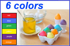 *** Colorful Paints For Dyeing The Easter Eggs – 6 COLORS -PRIORITY DELIVERY ***