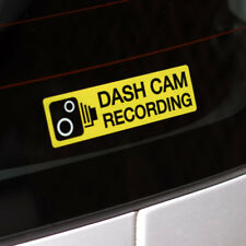 Dash Cam Recording Internal Car Window 110mm x 30mm Warning Stickers Pk of 2
