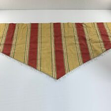 Waverly Striped Curtain Ascot Valance Lined Beaded Gold Green Maroon Lot of 5