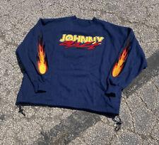 Vintage 90s Johnny Blaze Chenille Crewneck Sweatshirt Flames 3XL Method Man Rap