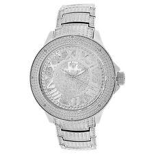 Men's Ice Mania IM3504MI Genuine Diamond Illusion Dial Watch Metal Band 0.08 CT