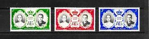 1956 Monaco, Grace & Rainier Royal Wedding, Set of 3, MH