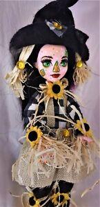 Sunflower Scarecrow an ooak monster high doll custom repaint