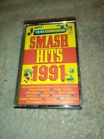 Smash Hits 1991 Compilation Album Double Cassette Tape Retro Music - Free P&P