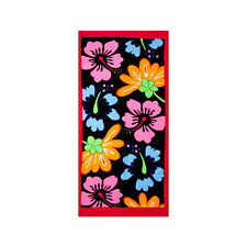 Floral Print Stylish Beach Towel, 100% Turkish Cotton 30 x 60 Soft Bath Towel