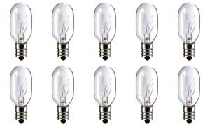 Box of 10 Bulbs 20T7 Clear 20 Watt 130 Volt E12 Candelabra Base 20T7C 130V 20W