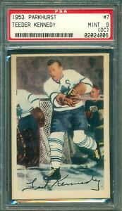 Teeder Kennedy 1953 Parkhurst #7 ** PSA 9 (oc) ** Maple Leafs Legend - MINT