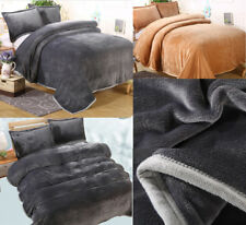Comfort Classics Soft Velvet Flannel  Micro Plush Blanket Throws Queen King Size