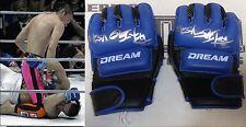 Shinya Aoki 2x Signed Dream MMA 4 Fight Worn Used Gloves PSA/DNA COA Pride Auto