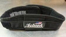 "Schiek 2004 Nylon Weightlifting Lifting Belt, 4-3/4"" Contour, Black, Size XXS"