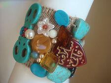 Modeschmuck-Armbänder im Gummiarmband-Stil ohne Metall für Damen